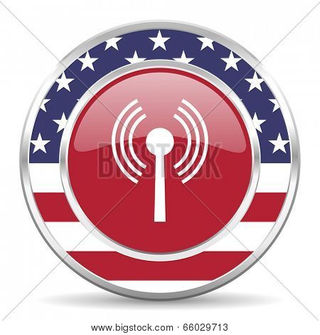 wifi american icon, usa flag