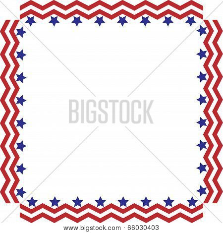 Chevron Stars and Stripes border