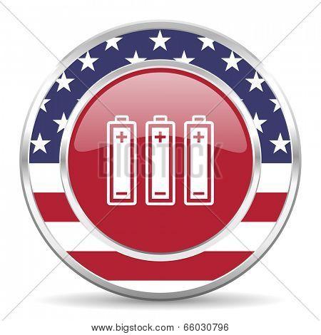 battery american icon, usa flag