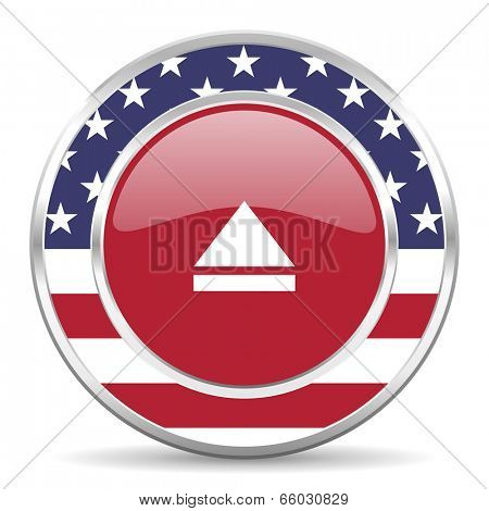 eject american icon, usa flag