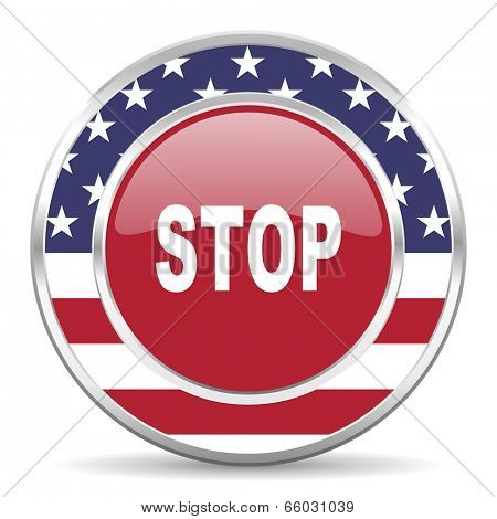 stop american icon, usa flag