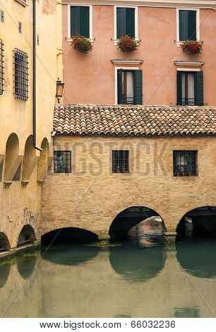 Colourful buildings, Treviso, Italy