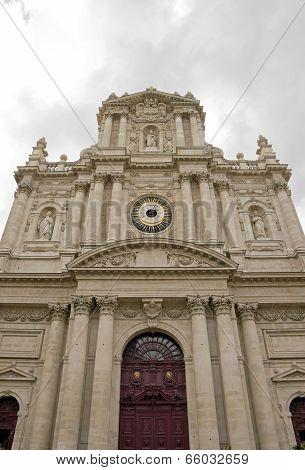 Church Saint-Paul Saint-Louis (Paris France), the entrance of the religious building