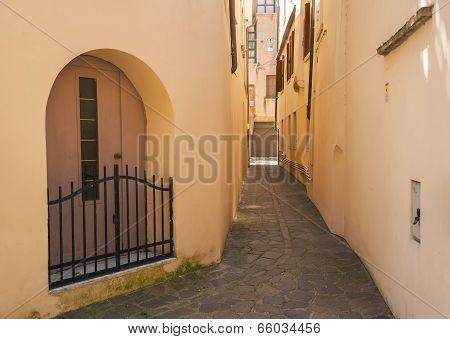 Cobbled street, Treviso, Italy