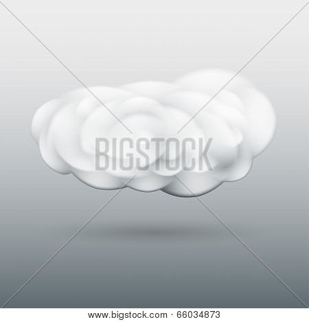 Fluffy cloud with shadow