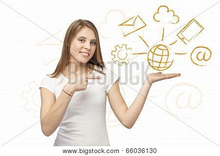 Web Solution Girl
