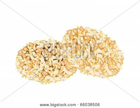 Delicious Sweet Snack With Peanut And Sesame