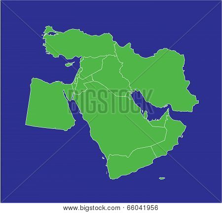 Middle East Map 2