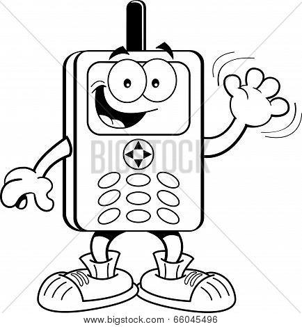 Cartoon cell phone