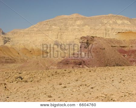 Crater in Negev desert