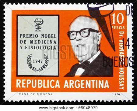Postage Stamp Argentina 1976 Dr. Bernardo Houssay, Physiologist