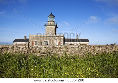The lighthouse of Barneville-Carteret, Manche, Basse-Normandie, France