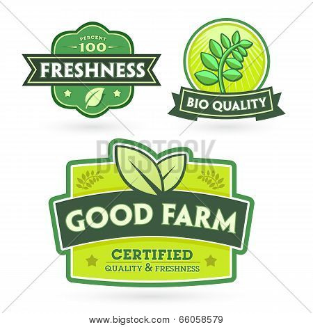 Set Of Organic-bio Labels