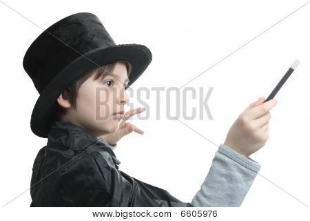 Young Magician Concentrated