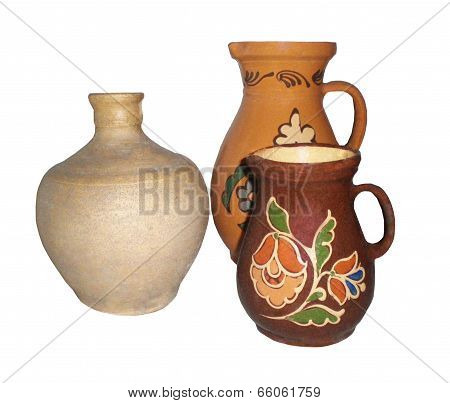 Still-life From Ancient Jugs