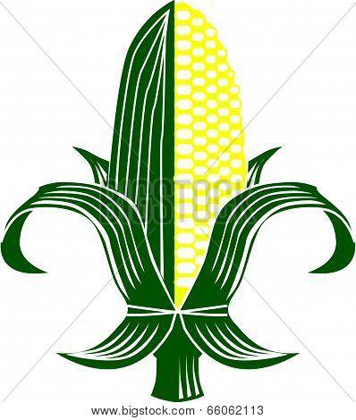 Corn Fleur-de-lis