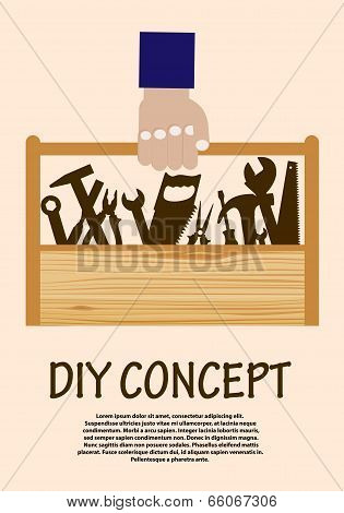 DIY concept with toolbox