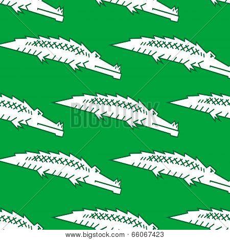 Green crocodile seamless pattern