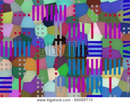 Multilayered Geometric Background