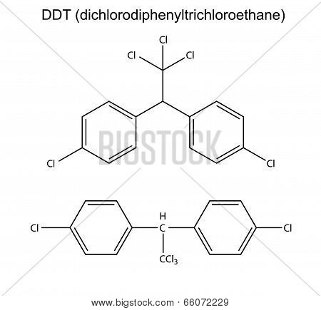 Structural Chemical Formula Of Pesticide Ddt