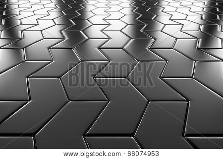 Steel Arrow Blocks Flooring Perspective View