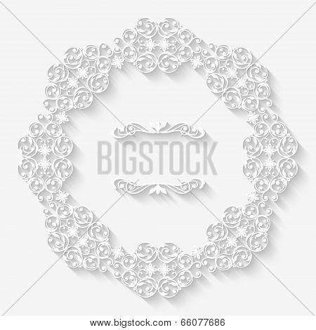 Vector vintage border white frame