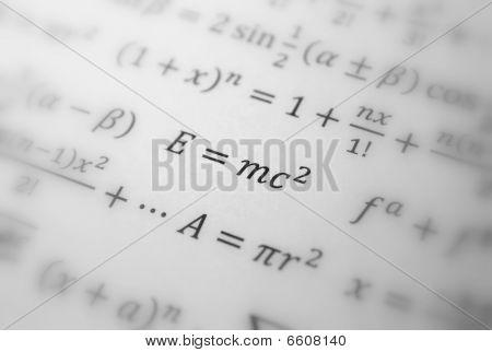 Einstein Formula Of Relativity, Math, Number Equation