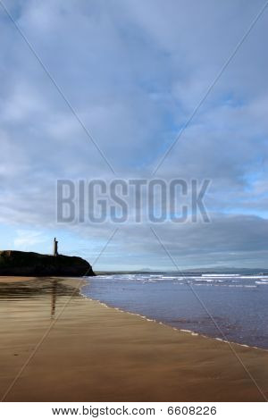 Ballybunion Beach Castle And Sea