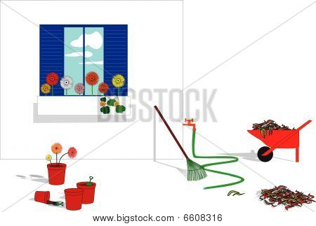 Garden window box