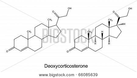 Structural Chemical Formulas Of Deoxycorticosterone