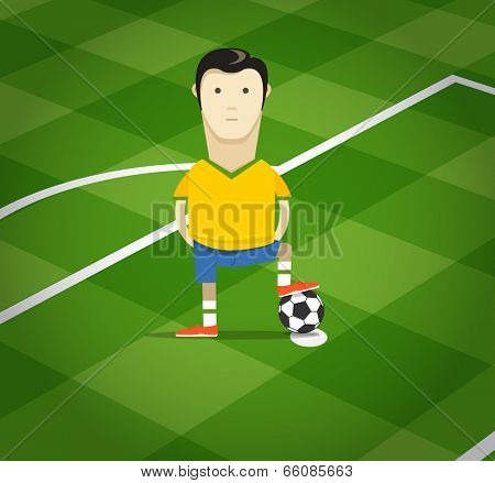 World soccer championship in Brazil illustration