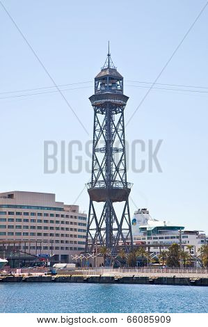 Barcelona. Station Of Ropeway