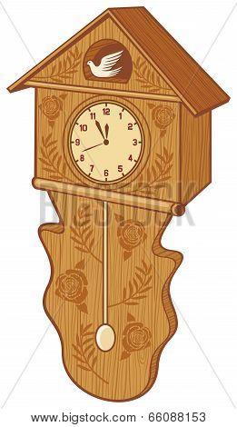 wooden cuckoo clock