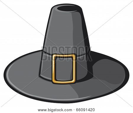 black pilgrim hat