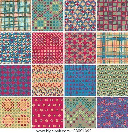 Textile Seamless Pattern Set No.10