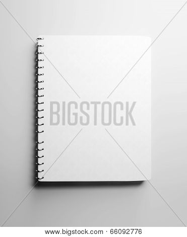 White notebook with blank cover