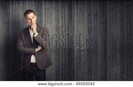 Portrait of thoughtful man
