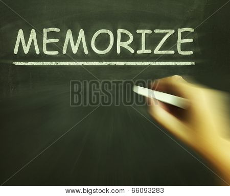 Memorize Chalk Shows Learn Information By Heart