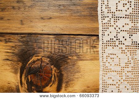Crochet And Wood Background
