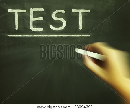 Test Chalk Shows Assessment Exam And Grade
