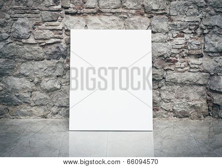 wall and white poster