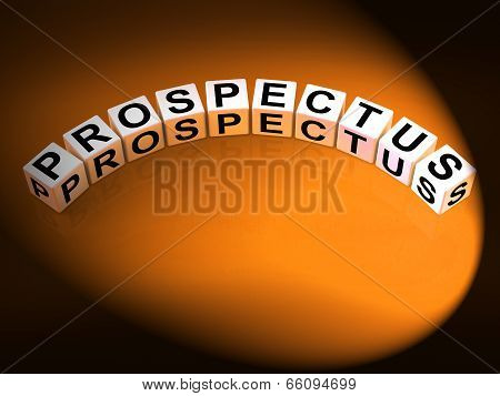 Prospectus Dice Show Brochures That Advertise Inform And Describ