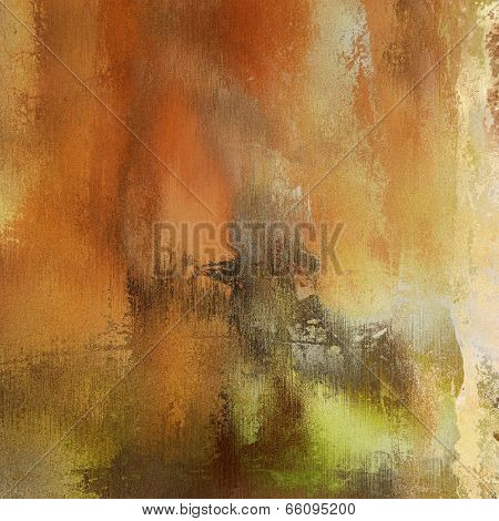 art abstract grunge dust textured background in beige, orange, green and brown colors