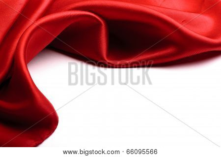 Red Satin Border.isolated On White