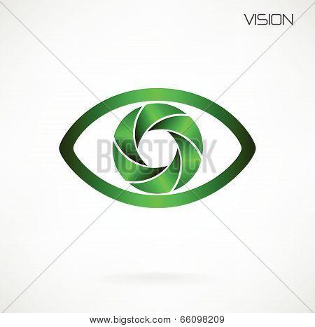 Global Vision Sign,eye Icon