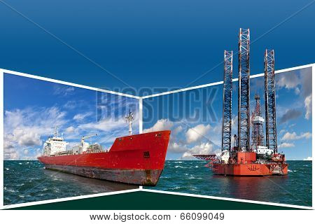 Frame With Offshore Industry