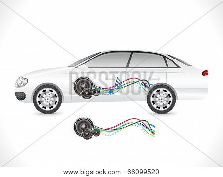 Abstract Sedan Car Sticker