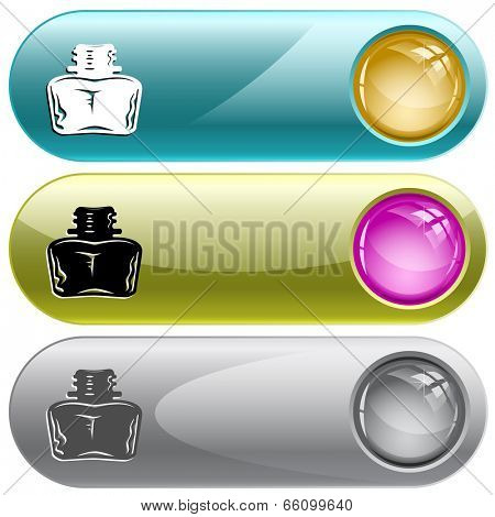 Inkstand. Internet buttons. Raster illustration.