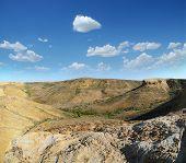 pic of plateau  - Slopes and canyons plateau Shalkar - JPG