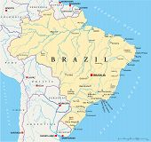pic of brasilia  - Political map of Brazil with capital Brasilia - JPG